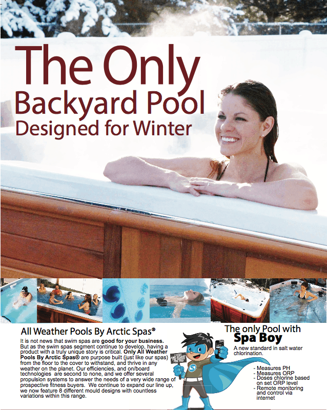 The only Backyard Pool Designed for Winter with a Spa Boy